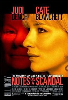 The reveal is handled differently from the book in the film Notes on a Scandal