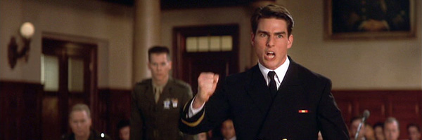 Tom Cruise —tension in A Few Good Men