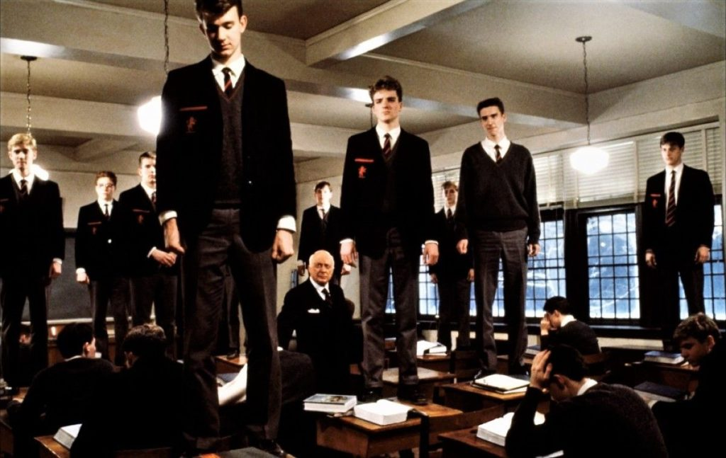 Powerful emotions in Dead Poet's Society.