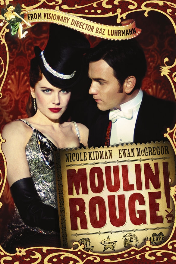 Layered writing in Moulin Rouge